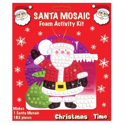 Santa Mosaic Foam Activity Kit - Christmas Arts & Crafts